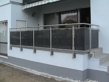 schlosserei schleip balkongel nder bk18. Black Bedroom Furniture Sets. Home Design Ideas