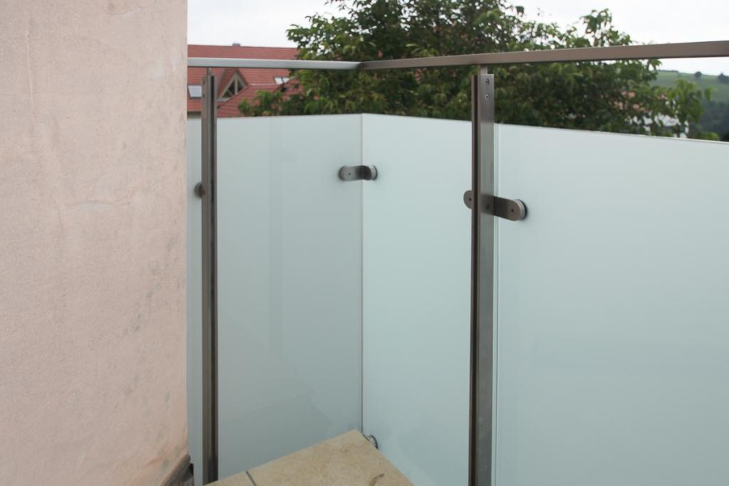 schlosserei schleip balkongel nder edelstahl glas bk50. Black Bedroom Furniture Sets. Home Design Ideas