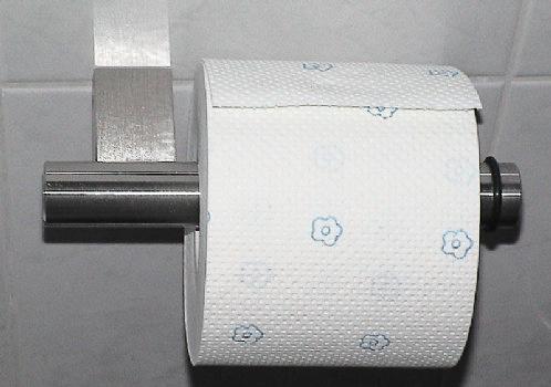 Bad-Accessoires - Toilettenpapierhalter aus Edelstahl.