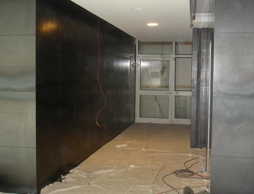 Wandverkleidung aus Stahlblechen im Innenbereich – DIV22