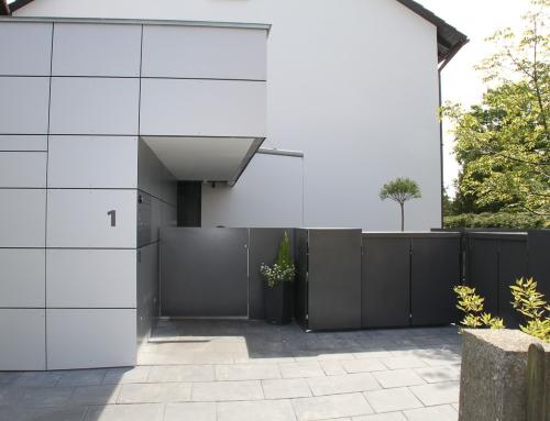 Gartentoranlage mit Türschließanlage – GT52