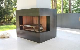 Wohnaccessoires - Verblendung für offenen Kamin